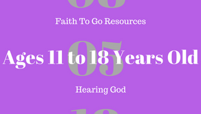 Week of August 5, 2018: Hearing God (Ages 11-18)
