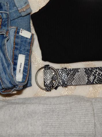 jeans - cotton on  black bodysuit - primark cardigan - target  belt - primark