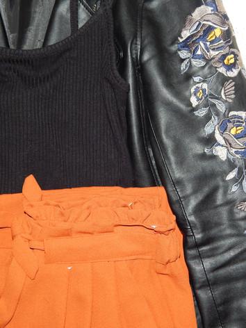 jacket - myer's (australia) black bodysuit - primark  pants - primark