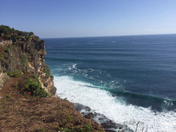 cliff and the ocean
