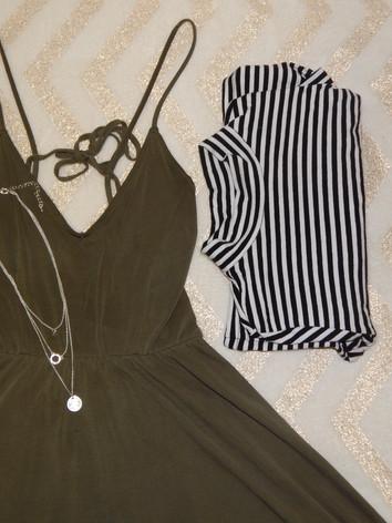 dress - forever 21  cropped turtleneck - forever 21  necklace - h&m