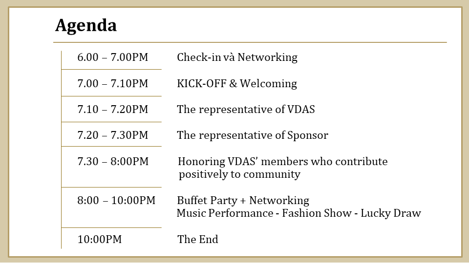 (VDAS) Year-end Party Profile _ English.