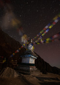 stupa startrails