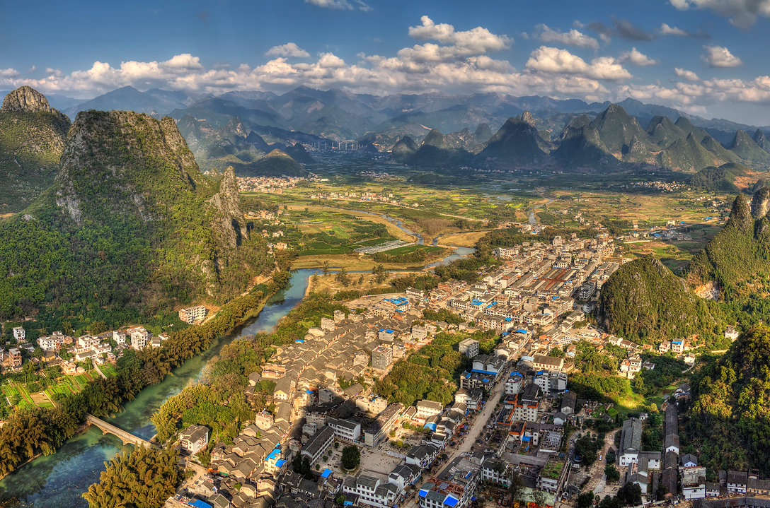 """Guilin landscape photography: the village of xingping."""