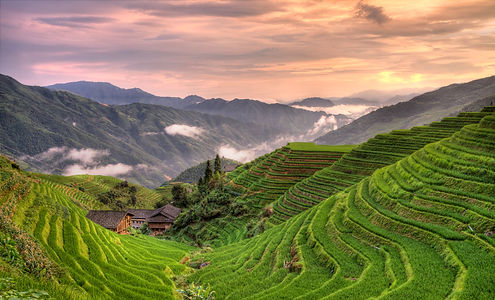 """Gorgeous Guilin photography tour: sunset at pingan village longji rice terraces longsheng ."""