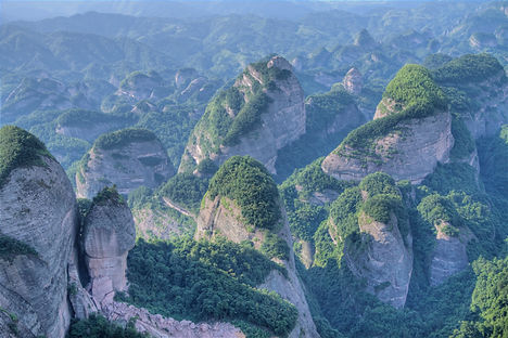 """Amazing Guilin photography: bajiaozhai mountain china."""