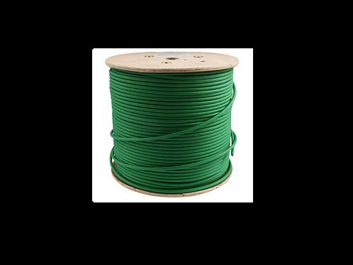 BOBINA UTP CAT 6A, CERTIFICABLE, cobre puro 99.99% PASS FLUKE TEST 0.57mm VERDE