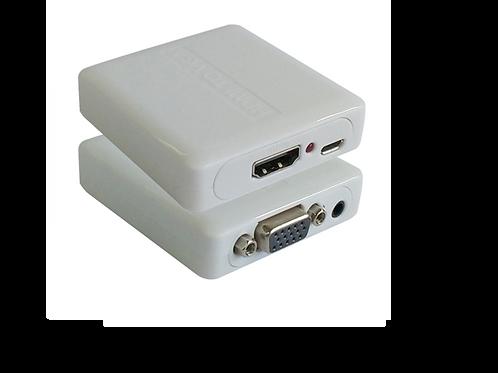 MINI CONVERTIDOR VGA + AUDIO A HDMI C/ ADAP DE CORRIENTE