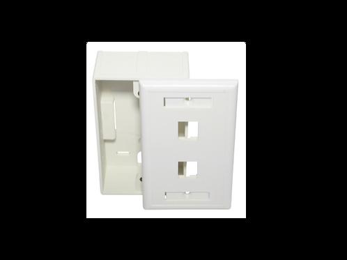 Placa de pared rectang con caja  2 puertos 115 X 70cm