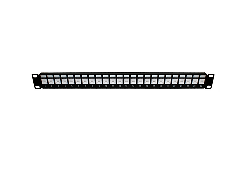 Panel de Parcheo UTP cat 6 (Jack anti polvo) 24 puertos