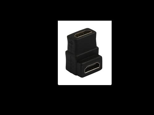 CONECTOR HDMI A-hembra -> Hembra de 90grados
