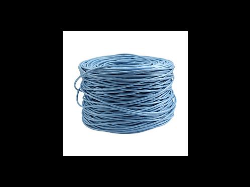 BOBINA ROLLO cable UTP CAT 6, 23 AWG 0.575 mmAZUL 305 metros