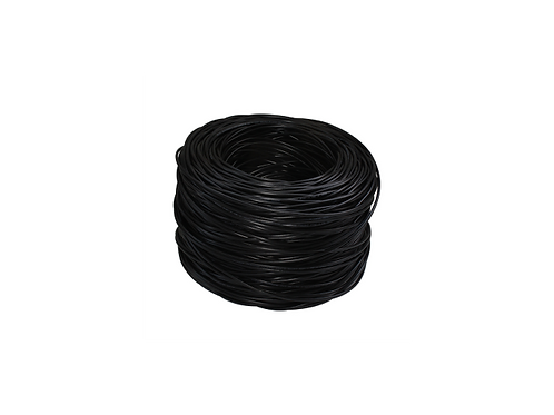 BOBINA ROLLO cable UTP CAT 6, 24 AWG 0.50 mm NEGRO 305 metros