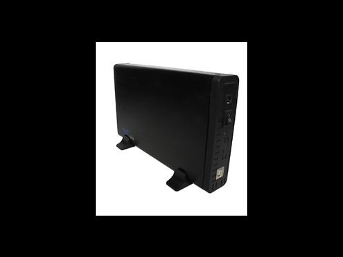 """CASE DE DISCO DURO 3.5"""" USB 2.0 A SATA NEGRO"""