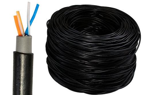 Bobina cable UTP Cat 5e exterior 2 Pares (4 Hilos)