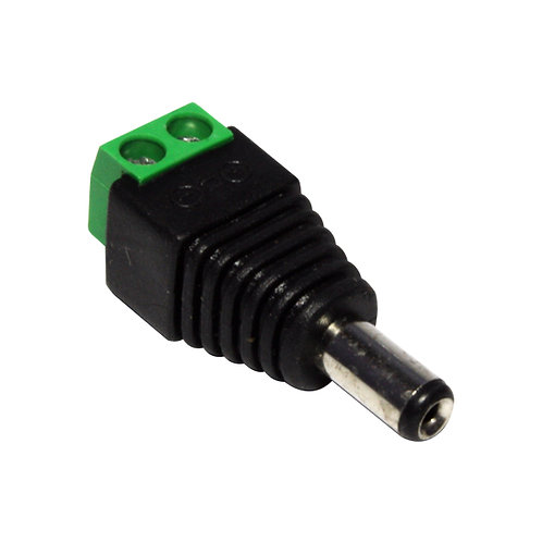 CONECTOR DE 2.1/5.5MM MACHO A CONECTOR TERMINAL PARA ATORNILLAR
