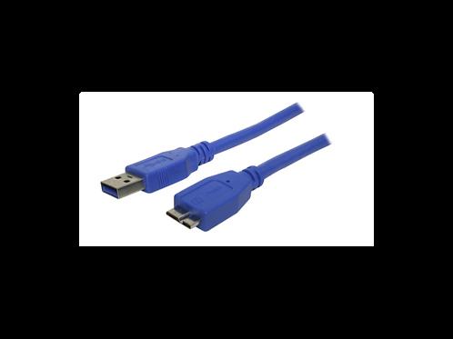 CABLE USB 3.0 A - MICRO B1.8 metrosAzul