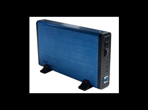 """CASE DE DISCO DURO 3.5"""" USB 3.0 A SATA Azul"""