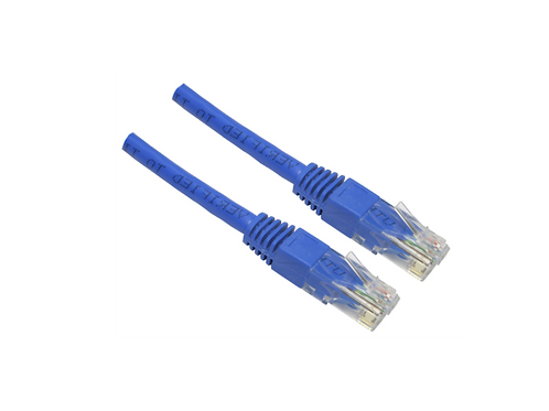 Cable UTP  Cat 6     ponchado 0.5metrosAZUL