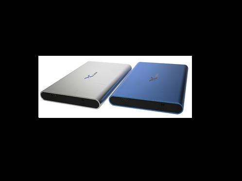 """CASE DE DISCO DURO 2.5"""" USB 2.0 A SATA TERMINADO SANDBLAST AZUL"""