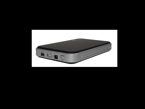 """CASE DE DISCO DURO 2.5"""" USB 2.0 A SATA SOFT RUBBER negro Plata"""