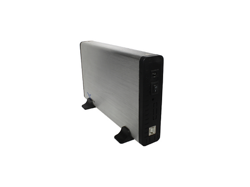 "CASE DE DISCO DURO 3.5"" USB 2.0 A SATA PLATA"