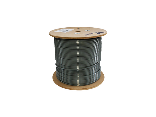 BOBINA CABLE 305 MTS UTP CAT 5E  GRIS 0.45 mm  DOBLE FORRO