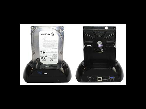 DOCKING STATION USB 3.0 A SATA,   1 BAHIA PLASTICOPIANO BLACK NEGRO