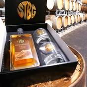 Geschenkkarton STBG Tiroler Whisky 0,7 lt. 10 yo mit 2 Whiskygläsern