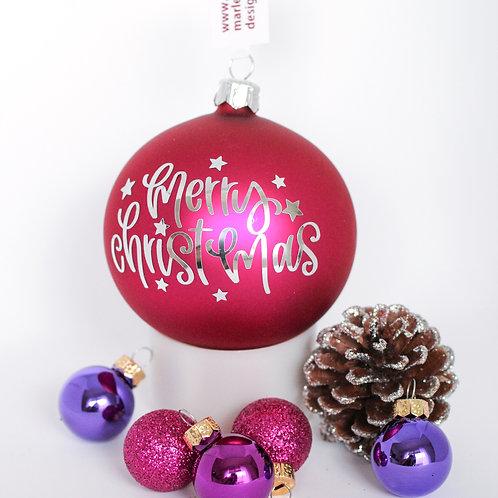 "Weihnachtskugel ""merry christmas"""