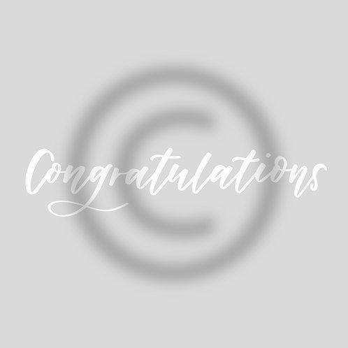 """Schriftzug """"Congratulations"""""""