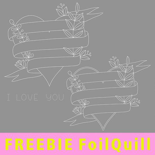 """FoilQuill """"Banner-Herz"""" - FREEBIE (GUTSCHEIN-CODE: FreebieFQ19-2 = Fr. 0.-)"""