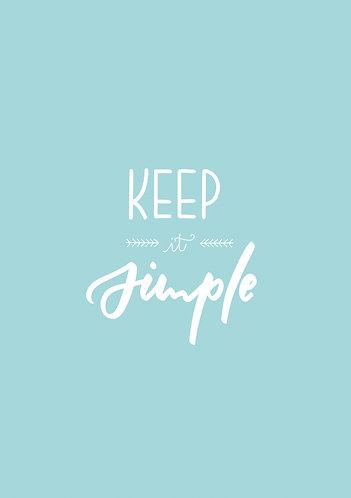 Keep it simple, Karte (jpeg+PDF)
