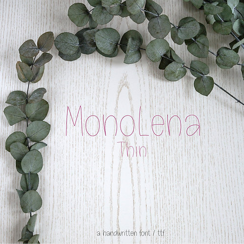 Font MonoLena Thin