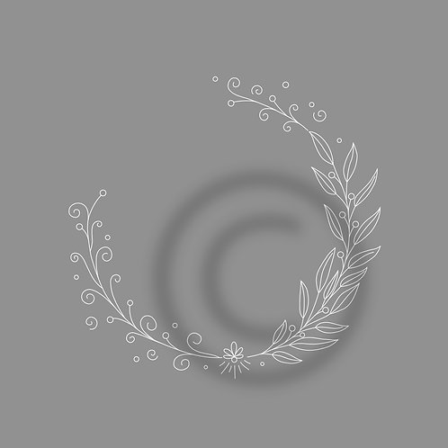 """FoilQuill """"Wreath_spiral-leaves"""""""