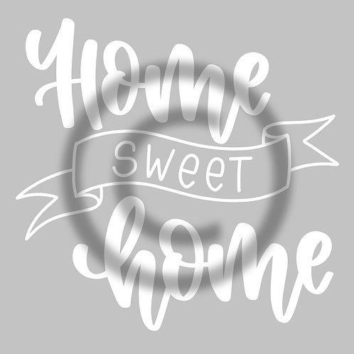 """Schriftzug """"Home sweet home"""" mit Banner"""