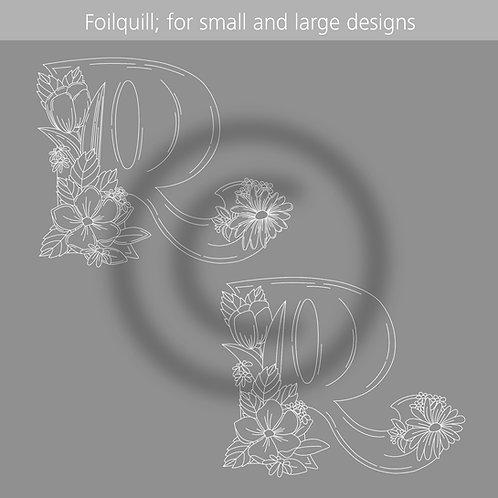LetterR (Foilquill - Hotfoil - Print)