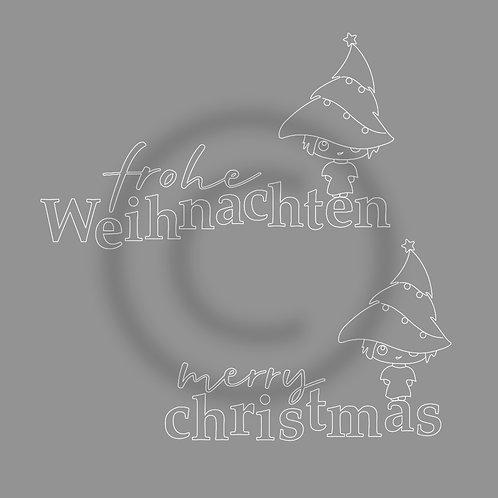 """FoilQuill """"Weihnachten-Christmas_Manga"""""""