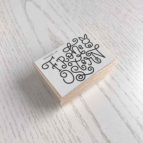 """Stempel """"Frohe Ostern"""" 6x4 cm"""