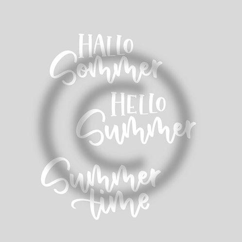 "Schriftzug Bundle ""Hallo Sommer/Hello Summer/Summertime"""