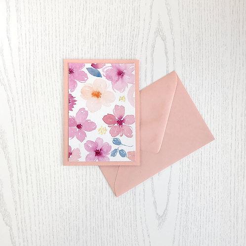 Karte rosa Blumen-01