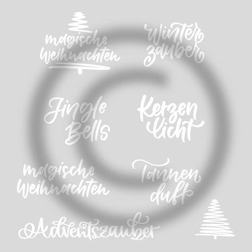 """Plotterdateien """"Weihnachtssprüche-Set"""""""