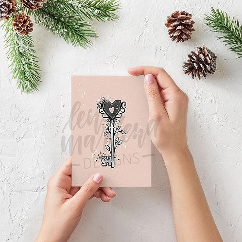 """Valentinskarte """"Schlüssel"""", A6"""