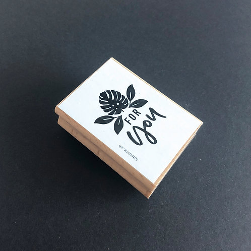 """Stempel """"for you"""" 6x4 cm"""