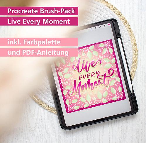 "Procreate Brush-Set ""Live every Moment"""