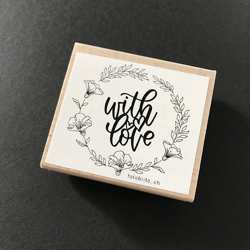 "Stempel ""with love"", 6x6 cm"