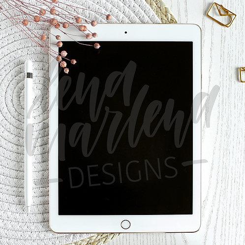 Flatlay mit iPad