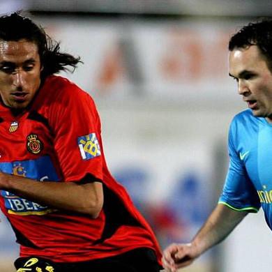 Jonas - Iniesta, Mallorca vs FC Barcelon