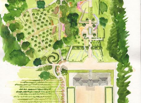 Un verger au château de Cheverny