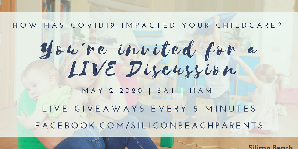Join us for a LIVE Conversation on Childcare During COVID19 Pandemic